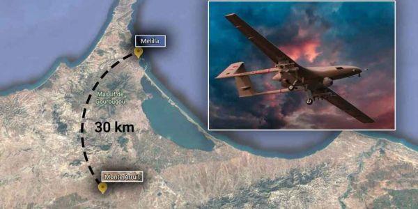 """الصبليون خايفين من قاعدة مغربية ديال طائرات """"الدرون"""" العسكرية على بعد 30 كيلومتر من مليلية"""