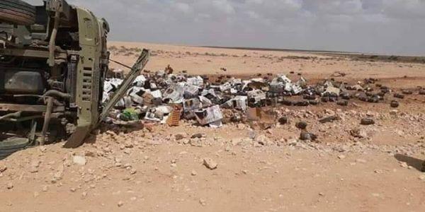 """شاحنة عسكرية انقلبات فمنطقة """"توكات"""" نواحي السمارة"""