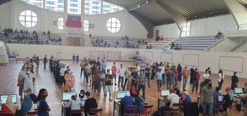 السلطات الاقليمية  ديال برشيد فتحات قاعة مغطاة كمركز رئيسي لعملية لتلقيح.. وازيد 2900 شخص تلقحو فيها