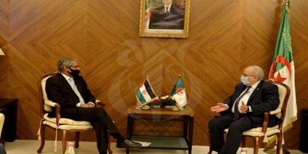 """وزير خارجية نظام العسكر """"لعمامرة"""" استقبل وزير خارجية جبهة البوليساريو فالدزاير"""