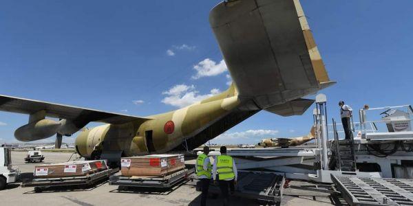 وصول طيارة جديدة لتونس محملة بالمساعدة الطبية العاجلة