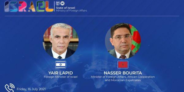 يائير لابيد: درت محادثات مطولة مع وزير الخارجية المغربي وهادشي مصلحة إسرائيلية عليا