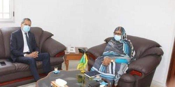 التقارب المغربي الموريتاني.. سفير المملكة فـ نواكشوط دار مباحثات مع مفوضة الأمن الغذائي الموريتانية