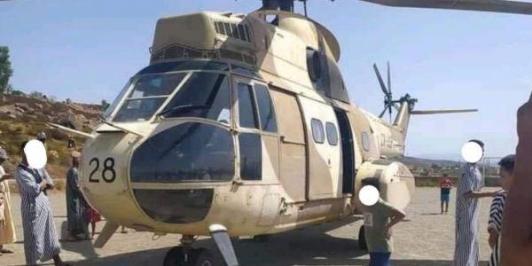 هيليكوبتر ديال العسكر نزل وسط دوار فجبال شفشاون وحتى واحد ماعارف السبب