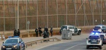 القوات الأمنية الإسبانية والمغربية وقفو محاولة دخول 400 حراگ لمليلية
