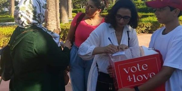"""Vote4Love"".. حملة جديدة ديال ""ائتلاف 490"" للتصويت على الحب ورفض القانون اللي كيجرم العلاقات الرضائية – تصاور"