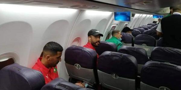 طيارة المنتخب قلعات قبل قليل من مطار كوناكري فاتجاه المغرب