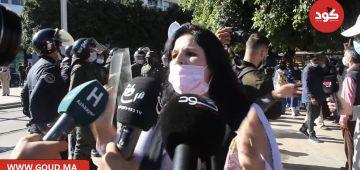 مغربية خارجة على عقلها كتغوت على اللقاح: اجبااااري لاااا.. اختياري مرحبا – فيديو