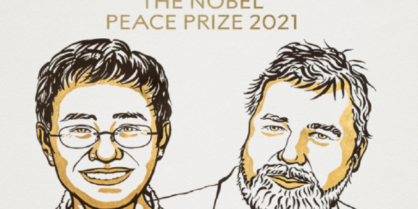 جائزة نوبل للسلام 2021 تعطات لجوج صحافيين.. الفلبينية ماريا ريسا والروسي دميتري موراتوڤ