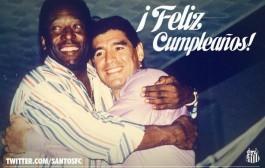تهنئة ساخرة من سانتوس لمارادونا بمناسبة عيد ميلاده