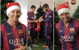 طرائف برشلونة أثناء محاولة تصوير مادة إعلانية بمناسبة رأس السنة (فيديو)