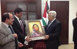 الرئيس الفلسطيني محمود عباس يستقبل وفد حزب البام