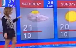 فيديو الاسبوع. قناة لبنانية دارت أحوال الطقس وردات شهر فبراير ب 30 يوم بحال خوتو + فيديو