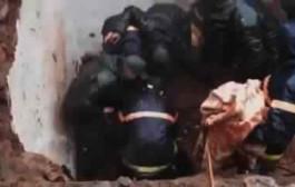 وفاة زوجين بمراكش إثر إنهيار منزلهما + فيديو