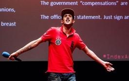حفل تسلم الحاقد لجائزة حرية التعبير في لندن