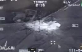 بالفيديو: غارات  طائرات التحالف العربي على الحوثيين