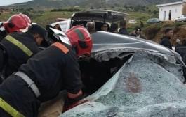 مازال لقتيلة. مصرع أربعة أشخاص وإصابة ثلاثة آخرين بجروح بليغة في حادثة سير حدا بنكرير