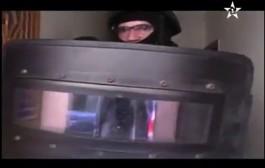 المغرب يظهر لأول مرة عمليات إقتحام منازل الخلية الارهابية مصورة بالكاميرا + فيديو