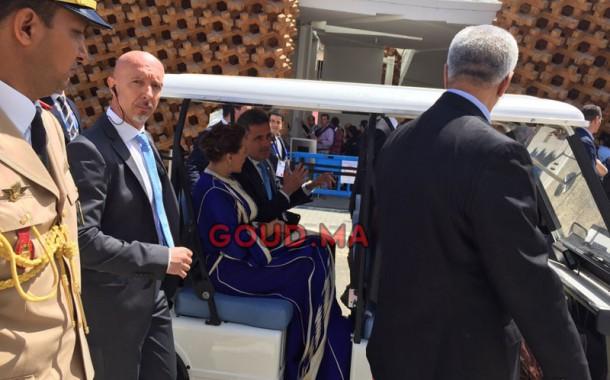 الاميرة لالة حسناء عبر عربة في المعرض العالمي. تسويق لفن العيش المغربي في اكبر تظاهرة عالمية (فيديو حصري بالعربة)
