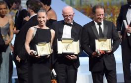 السينما الفرنسية محيحة فمهرجان كان: السعفة الذهبية واحسن ممثلة واحسن ممثل لفرنسيين =قائمة الجوائز=