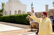 الملك مشا من كازا نهار العيد