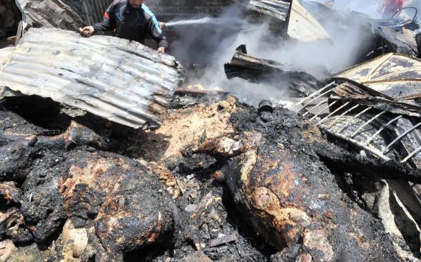 النيران تأتي على كاريان الرحامنة في سيدي مومن  في حريق غامض