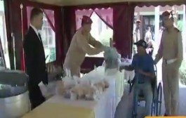 الحرس الملكي كايدير الخير وكيوزع فطور رمضان على المرضى وذوي الاحتياجات الخاصة (فيديو)