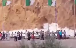 نايضة بين لمغاربة والجزائريين فالحدود. فيديو لهتافات للملك من جانب المغاربة ولصالح الجزائر من الجانب الآخر