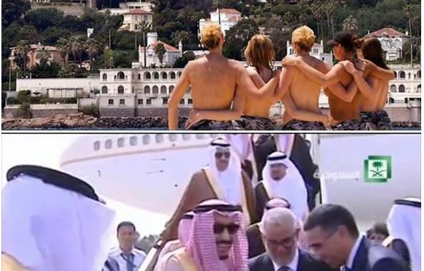 اسرافيليات : ملك السعودية بين اثداء الفرنسيات وإنحناء ابن كيران !