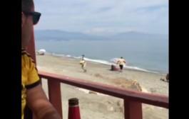 شكون يقد على المغاربة. بالفيديو. مهربي مخدرات دخلو لشاطئ سياحي وبداو كايخويو لحشيش من القارب أمام السياح!!