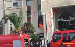 """عاجل. مقر عملاق السكن الاقتصادي """"الضحى"""" شعلات فيه العافية =صور حصرية"""