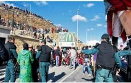 """الحرس المدني الإسباني يعتدي على """"ممتهنات التهريب المعيشي"""" بمعبر باب سبتة بالشمال"""