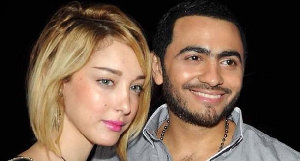 واش غايديرو شي دويتو. المغربية بوسيل تظهر مع سيرين عبد النور وتامر حسني (صورة)