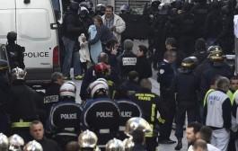 لحظة تفجير امرأة نفسها بحزام ناسف في باريس