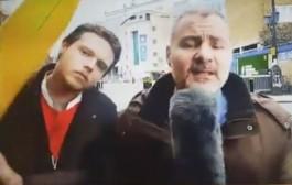 بالفيديو. مراسل عصبو أحد المارة وهو يسمح فالبث المباشر وقلبها معاه دباز