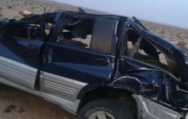مقتل شخص و إصابة آخر في حادثة سير خطيرة بين العيون و بوجدور + صورة