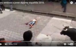 صادم. ثور يقتل مواطن في رياضة مصارعة الثيران في المكسيك (فيديو +18)