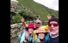 """بالفيديو. سعودي ماشي بحال السواعدة. مشا طلع لأعلى جبل فالعالم باش يقول لمراتو """"كانبغيك"""""""