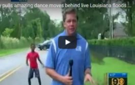 بالفيديو. برهوش أمريكي رجع نجم لأنه رقص على الهواء في وقت كان الرعب يتملك الناس