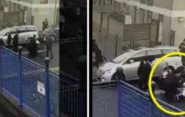 بالفيديو. يهود متشددون سلخو بوليسي بريطاني حقاش دار بروصي لصاحبهوم