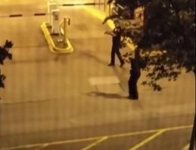 بالفيديو. طالب هز جنوي على أمن جامعة فالميريكان وهوما يصفيوه