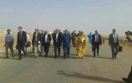 رسميا : وضع حجر الأساس للمعبر الدولي تندوف-شوم بحضور وفد جزائري وموريتاني
