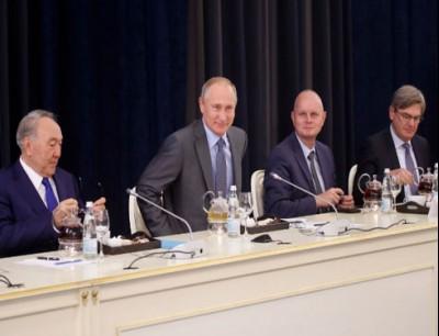 بالفيديو. بوتين تفرگع بالضحك على وزير فحكومته وها علاش