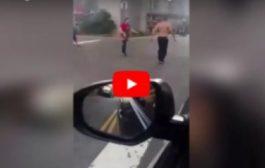 مرا وگادة. بالفيديو. تايوانية نقذات راجلها من هجوم مسلح