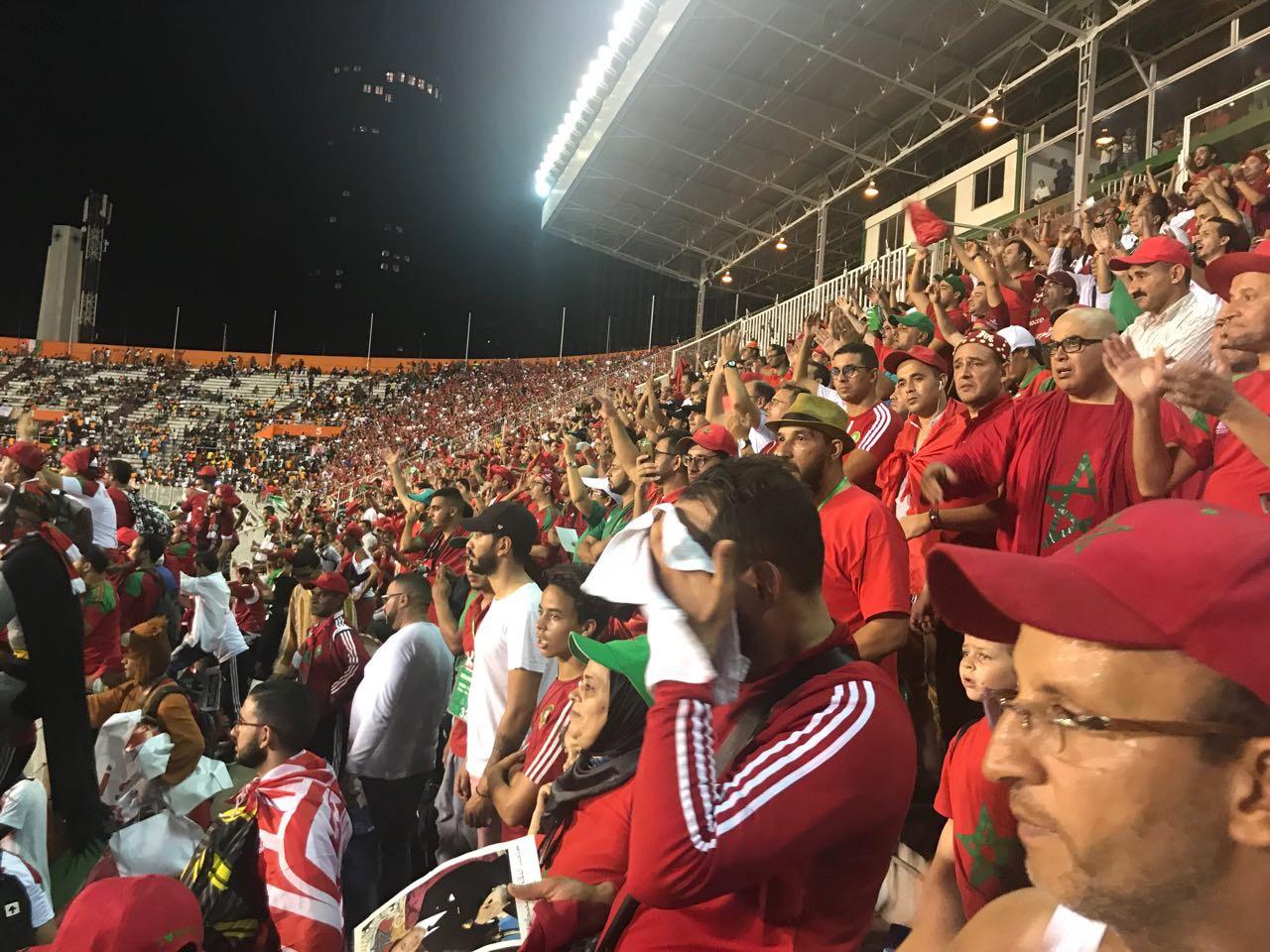 بالفيديو. ها كيفاش دازت اجواء الفرح فالملعب بعد فوز المغرب