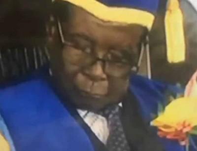 بالفيديو. في اول ظهور بعد الانقلاب موغابي بان ناعس