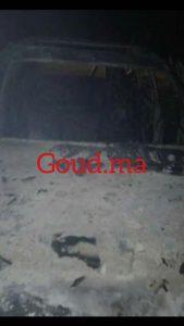 جريح وحرق ثلاث سيارات فأحداث عنف قرية الصيد تيشكا بالداخلة+ صور حصرية