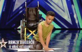 بالفيديو. طفل مغربي مشلول يلهب الاف الجماهير ولجنة تحكين « إسبانيا غوت تالنت »